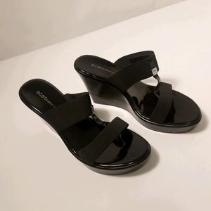 BCBGenerations wedge sandals size 10
